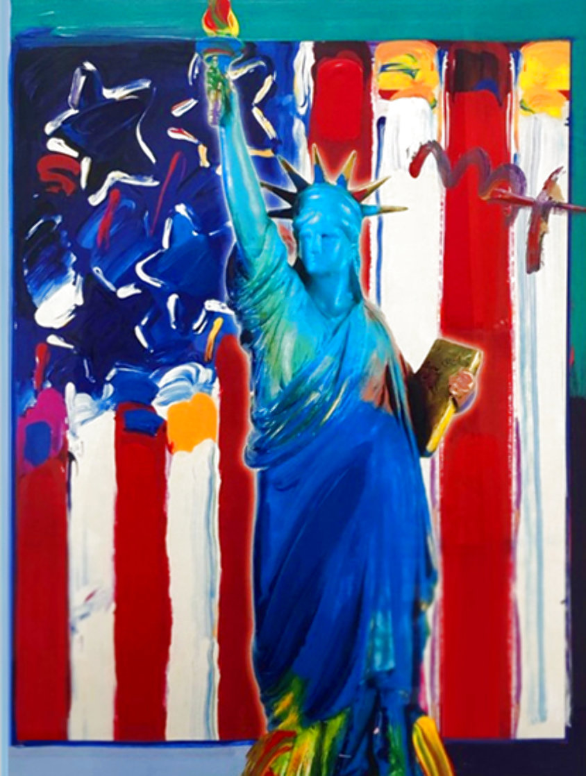 United We Stand II 38x32 Works on Paper (not prints) by Peter Max