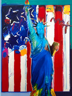 United We Stand II 38x32 Works on Paper (not prints) by Peter Max - 0