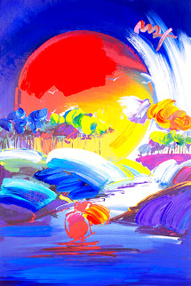 Without Borders II     2007  Embellished Poster Unique Works on Paper (not prints) - Peter Max