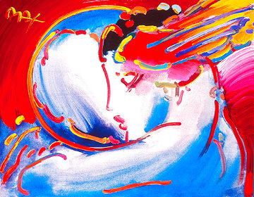 Peace By the Year 2000 unique Embellished Poster  Works on Paper (not prints) - Peter Max