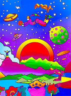 Heaven on Earth #12 2010 Unique 24x18 Works on Paper (not prints) - Peter Max