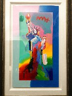 Statue of Liberty 2017 Unique 24x13 Works on Paper (not prints) by Peter Max - 2