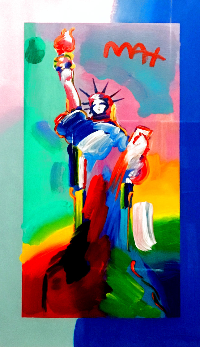 Statue of Liberty 2017 Unique 24x13 Works on Paper (not prints) by Peter Max