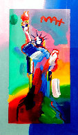 Statue of Liberty 2017 Unique 24x13 Works on Paper (not prints) by Peter Max - 0