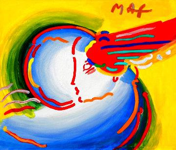 Love the World 1999 Unique 28x32 Original Painting - Peter Max