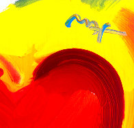 Valentine 2007 Heavily Embellished Unique Poster  36x24 Works on Paper (not prints) by Peter Max - 1
