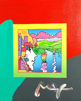 Geometric Sailboat Unique 2006 Works on Paper (not prints) - Peter Max