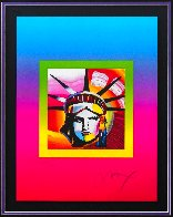 Liberty Head on Blends Ver. II 31x27 Limited Edition Print by Peter Max - 2