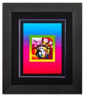 Liberty Head on Blends Ver. II 31x27 Limited Edition Print by Peter Max - 1