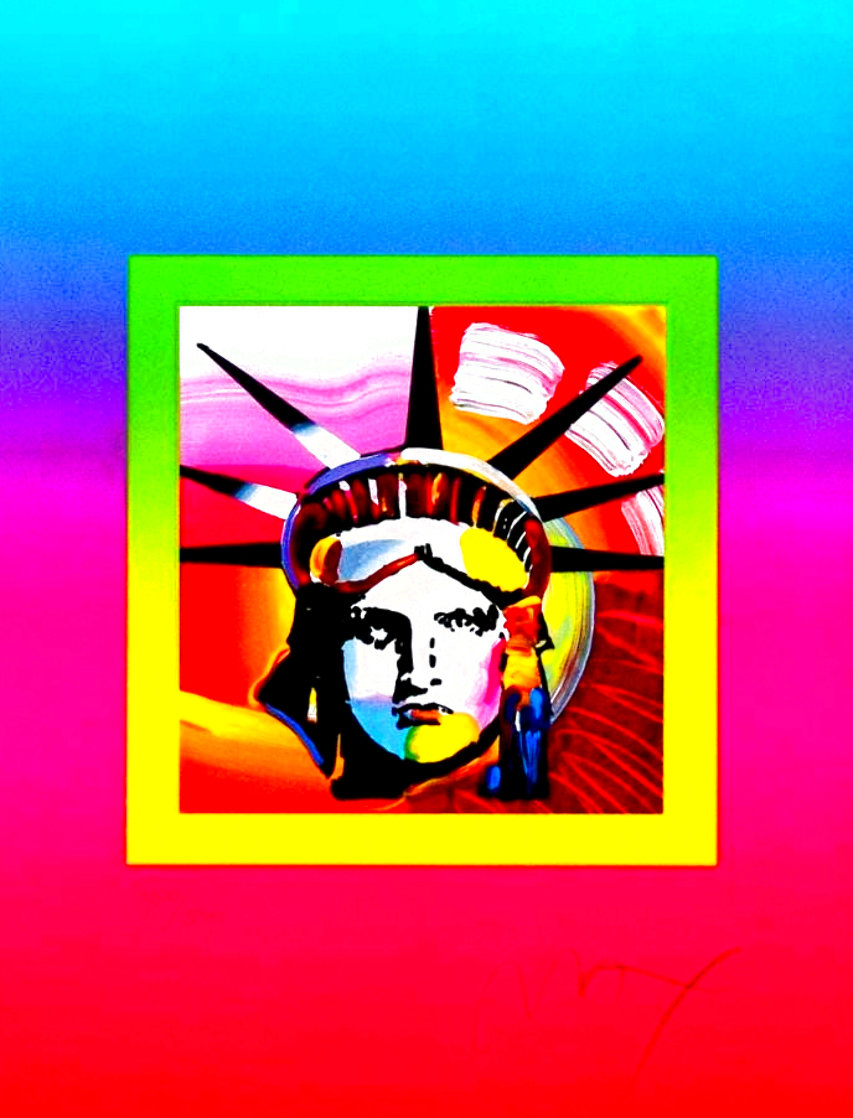Liberty Head on Blends Ver. II 31x27 Limited Edition Print by Peter Max