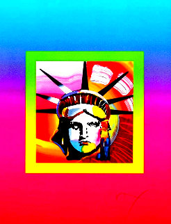 Liberty Head on Blends Ver. II 31x27 Limited Edition Print - Peter Max