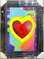 Heart 46x32 Unique  Super Huge Works on Paper (not prints) by Peter Max - 1