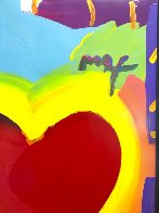 Heart 46x32 Unique  Super Huge Works on Paper (not prints) by Peter Max - 4