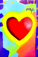 Heart 46x32 Unique  Super Huge Works on Paper (not prints) by Peter Max - 2