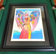 Angel With Heart 2012 Super Huge  Limited Edition Print by Peter Max - 2