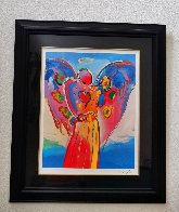 Angel With Heart 2012 Super Huge  Limited Edition Print by Peter Max - 1