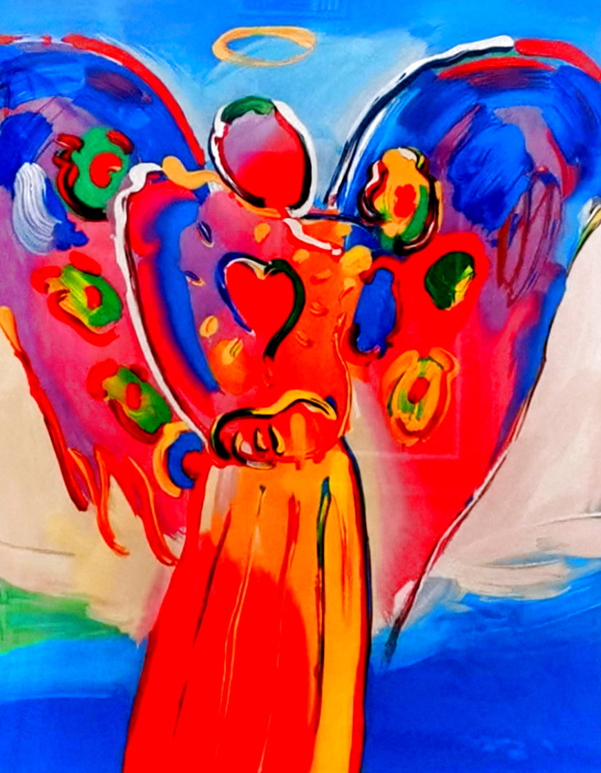 Angel With Heart 2012 Super Huge  Limited Edition Print by Peter Max