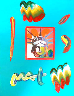Liberty Head Unique 2000 11x8 Works on Paper (not prints) - Peter Max