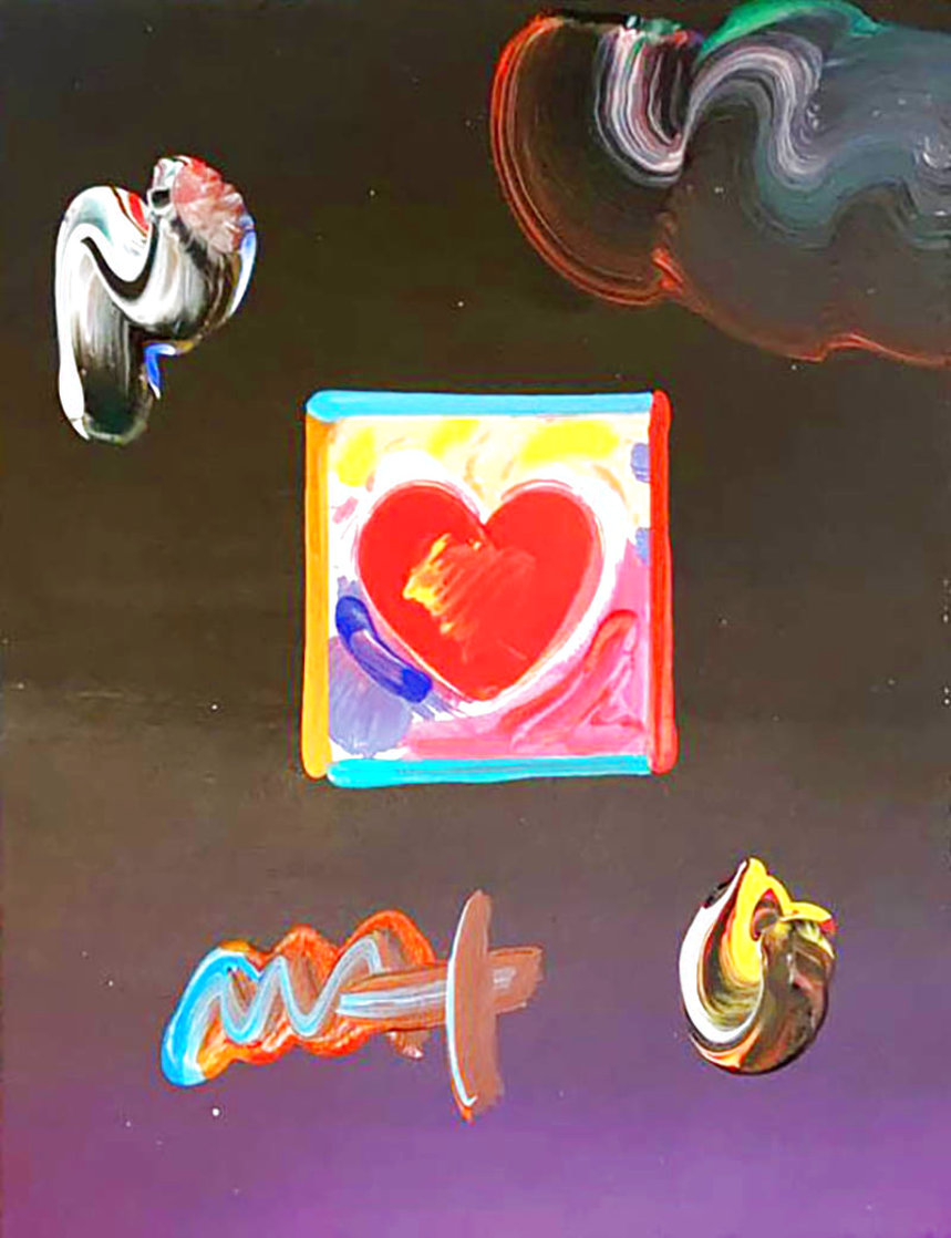 Heart Unique 2009 11x8 Works on Paper (not prints) by Peter Max