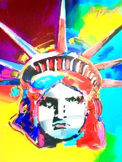 Liberty 2000 50x42 Huge (Signed Twice) Original Painting - Peter Max