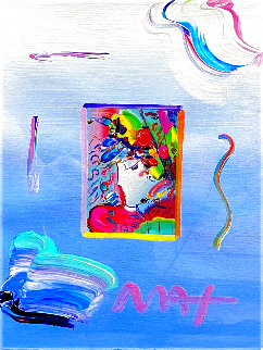 Blushing Beauty Ver. I #12 2017 Unique 21x17 Original Painting - Peter Max