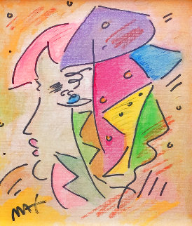 Untitled Watercolor 1992 14x22 Watercolor - Peter Max