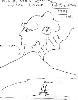 Untitled Drawing 1975 15x13 Drawing - Peter Max