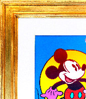 Mickey Mouse (Full Body) Unique 1996 21x17 Original Painting by Peter Max - 2