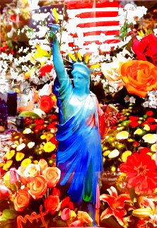 Land of the Free Home of the Brave Unique 2012 Works on Paper (not prints) - Peter Max