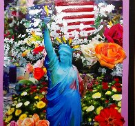 Land of the Free Home of the Brave Unique 2012 Works on Paper (not prints) by Peter Max - 3
