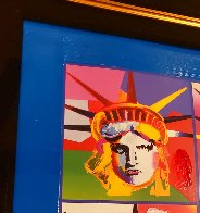 Liberty And Justice For All II Unique 2005 37x31 Works on Paper (not prints) by Peter Max - 5