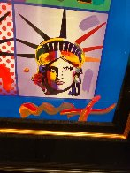 Liberty And Justice For All II Unique 2005 37x31 Works on Paper (not prints) by Peter Max - 7