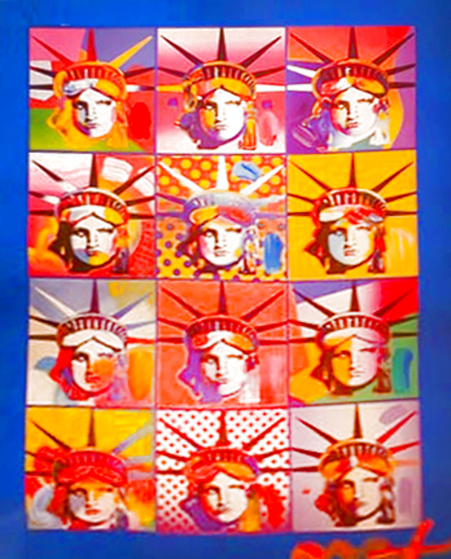 Liberty And Justice For All II Unique 2005 37x31 Works on Paper (not prints) by Peter Max