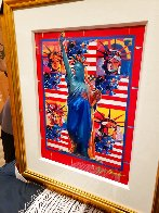 God Bless America With Five Liberties Unique 2001 37x31 Works on Paper (not prints) by Peter Max - 7