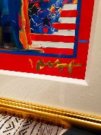 God Bless America With Five Liberties Unique 2001 37x31 Works on Paper (not prints) by Peter Max - 4
