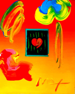 Heart Suite II 2000 11x9 Unique Works on Paper (not prints) - Peter Max