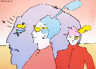 Psychedelic Vintage Suite of 4 AP, 1975  Limited Edition Print by Peter Max - 1