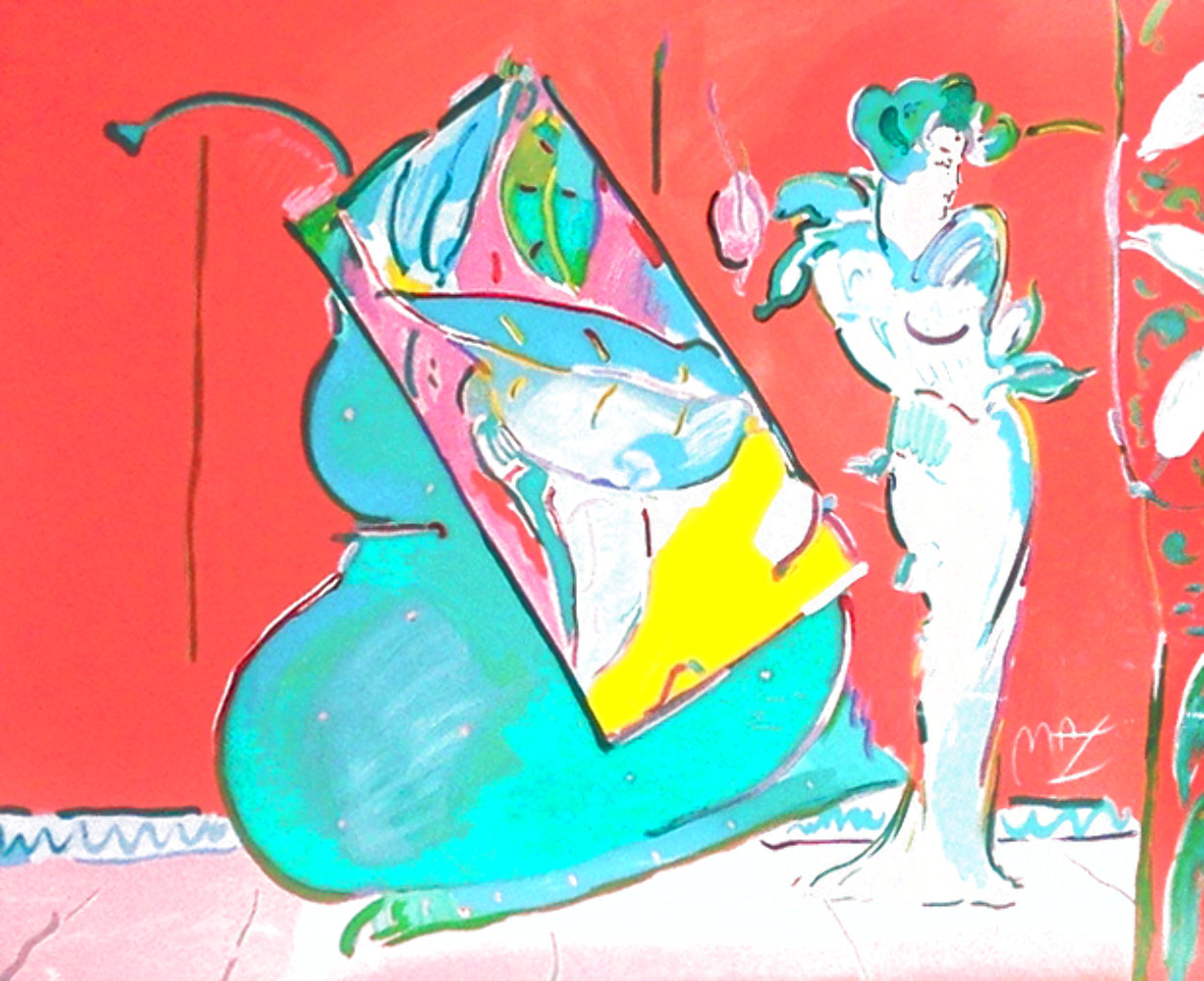 Les Mondrian Ladies 1988 Huge Limited Edition Print by Peter Max