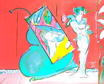 Les Mondrian Ladies 1988 Huge Limited Edition Print - Peter Max