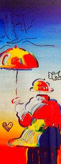 Umbrella Man Ver. VII w/ Remarque 2012  Limited Edition Print - Peter Max