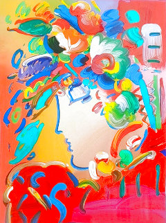 Beauty Unique 2014 34x30 Works on Paper (not prints) - Peter Max