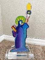 Statue of Liberty Acrylic Sculpture Unique 12 in  Sculpture by Peter Max - 5