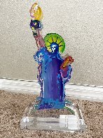 Statue of Liberty Acrylic Sculpture Unique 12 in  Sculpture by Peter Max - 4