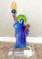 Statue of Liberty Acrylic Sculpture Unique 12 in  Sculpture by Peter Max - 0