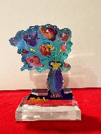 Vase of Flowers Acrylic Sculpture Unique 2018 12 in Sculpture by Peter Max - 1