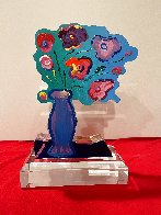 Vase of Flowers Acrylic Sculpture Unique 2018 12 in Sculpture by Peter Max - 0