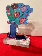 Vase of Flowers Acrylic Sculpture Unique 2018 12 in Sculpture by Peter Max - 3