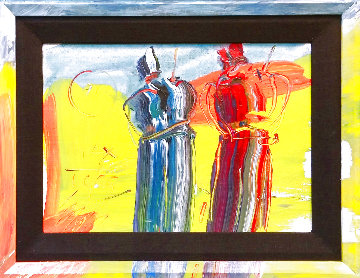 Sage  1989 10x14 Original Painting - Peter Max