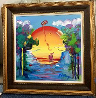 Better World Ver. XVIII Unique 2016 33x33 Original Painting by Peter Max - 1