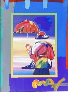Umbrella Man on Blends Unique 2005 21x23 Works on Paper (not prints) - Peter Max